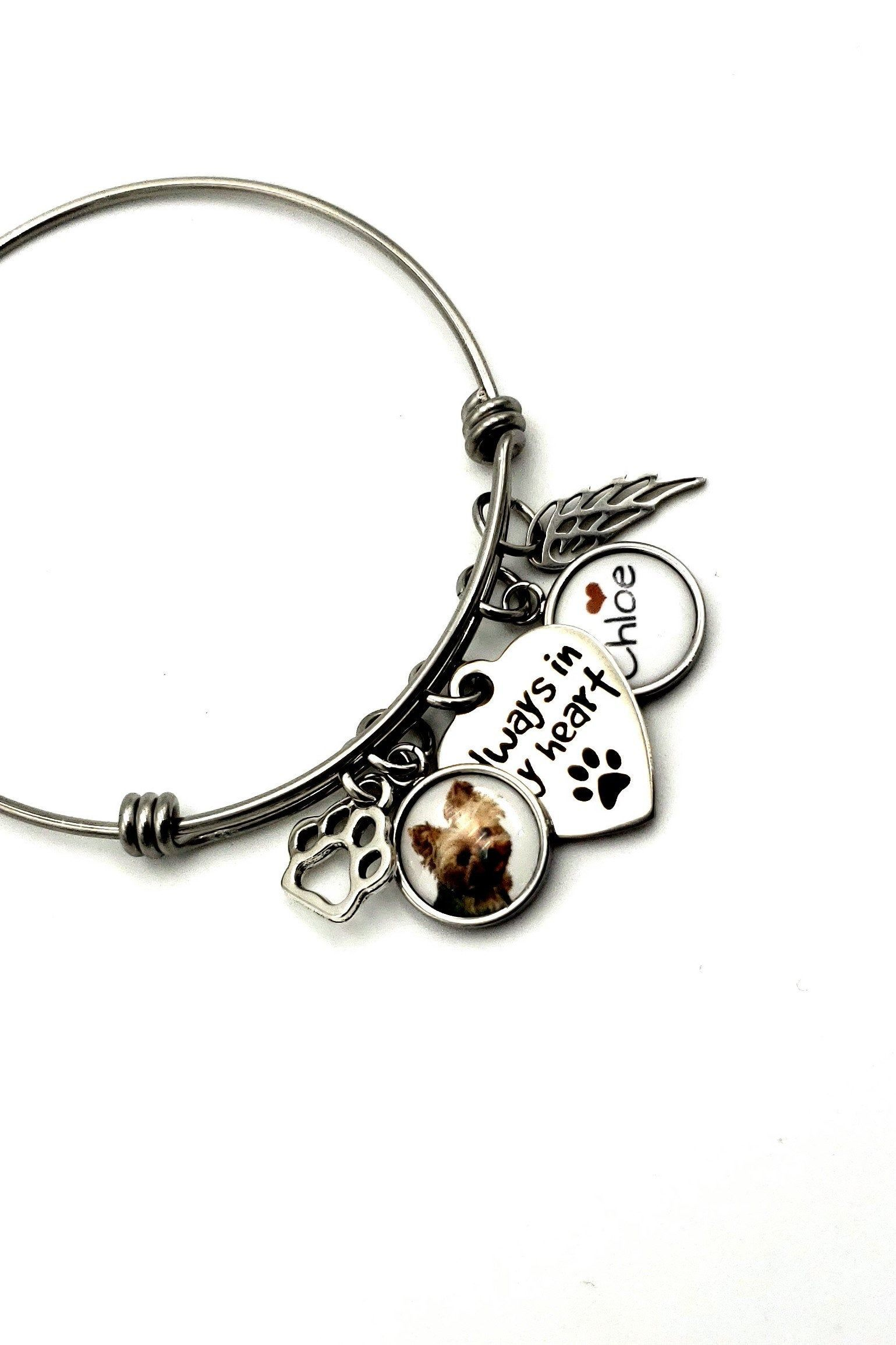 In memory of dog Forever in my heart Dog Cat Memorial Bracelet Urn Pet Loss Gift Cremation Pet Memorial Jewelry