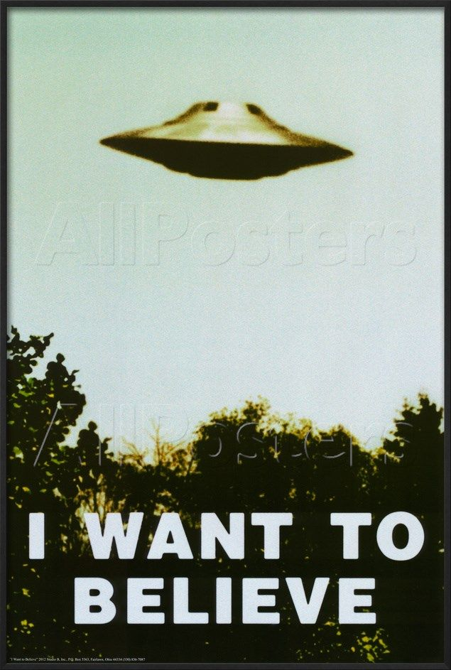 Photo of 'The X-Files – I Want To Believe Print' Posters – | AllPosters.com
