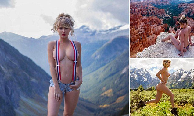 Sara Jean Underwood 32 From Portland Oregon Has Built A Huge Social Media Following Over The Past Year By Posting Sizzling Snaps Of Her Hiking