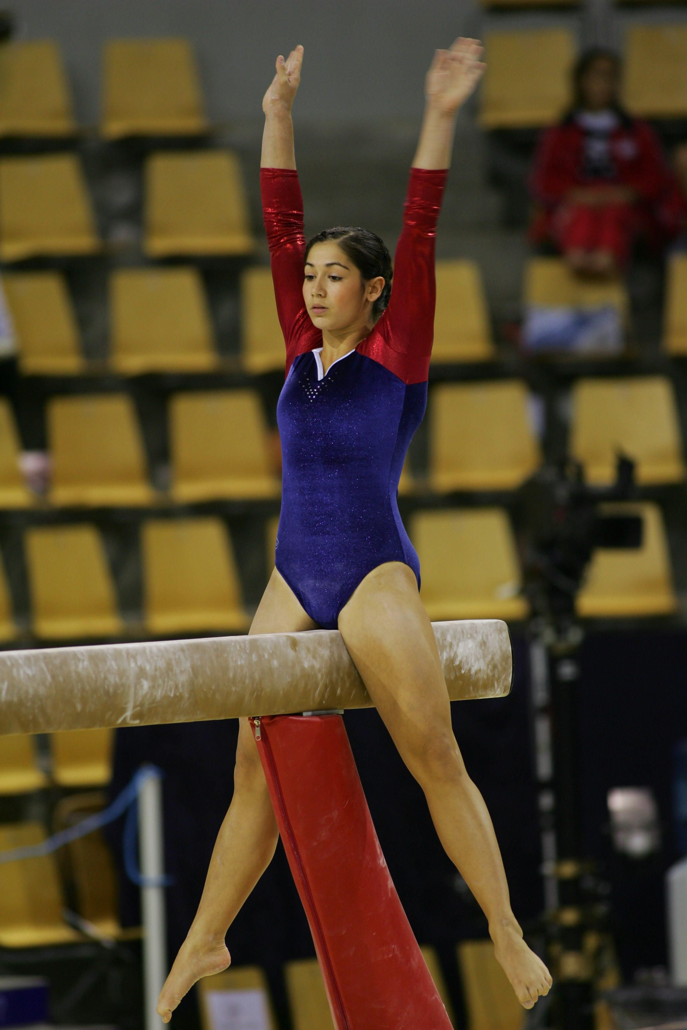 Norway Artistic Gymnast On The Beam During 2006 Gymnastics World Championship In Denmark Resolution 2336x3504