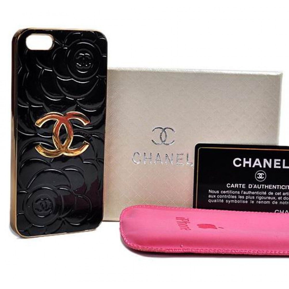 Coque Chanel iPhone 5S,Coques Rose pour iPhone 5S -Noir | Chanel ...