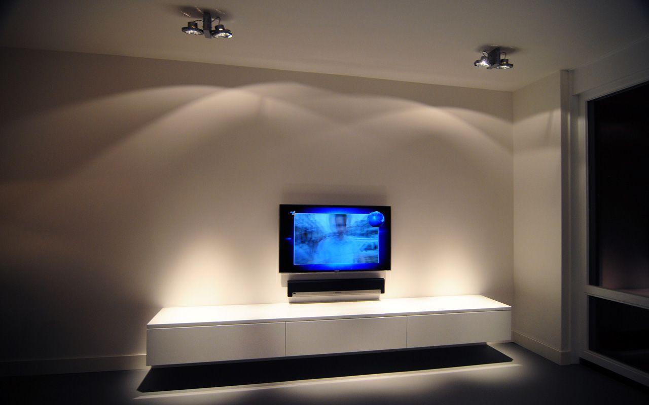 Tv Meubel Dongen.Zwevend Wit Design Dressoir Tv Meubel Styling Woonkamer