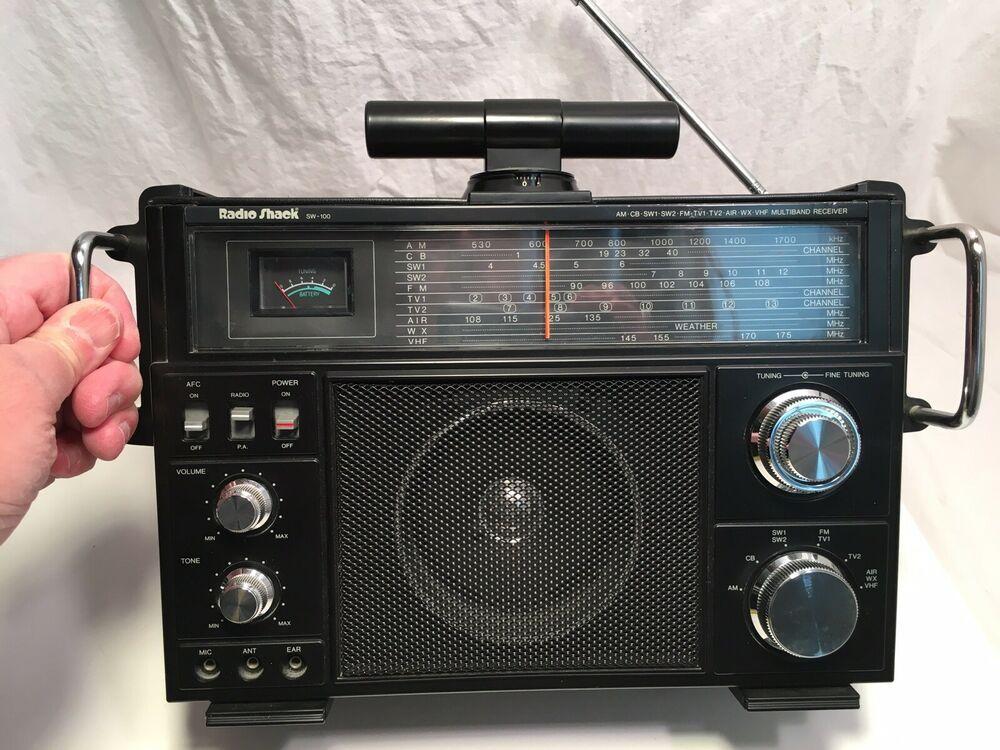 Vintage 1992 Radio Shack Multiband radio SW 100 Model 12-649 Ten