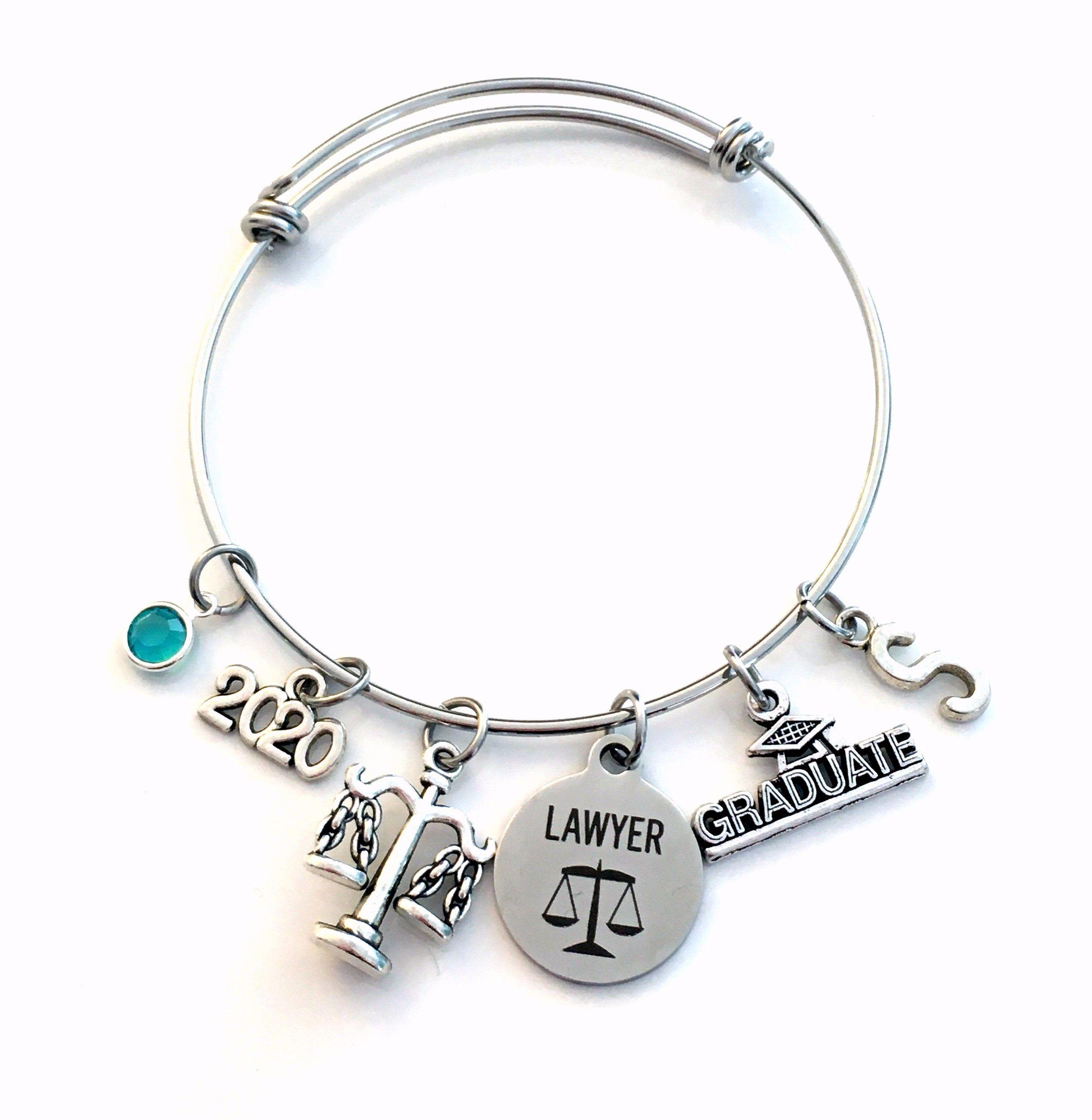 Law school graduation gift 2020 lawyer charm bracelet