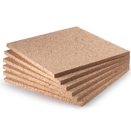 Widgetco 1 2 X 12 Cork Squares 6 Pack Walmart Com Diy Cork Board Cork Panels Cork Wall