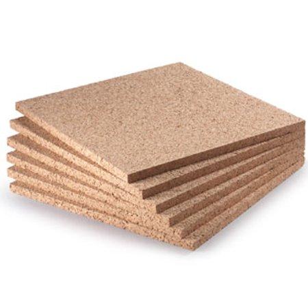 Widgetco 1 2 X 12 Cork Squares 6 Pack Walmart Com Cork