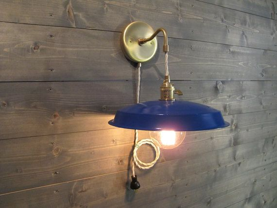 Hanging Wall Lamps industrial wall sconce - vinyl record upcycled wall light