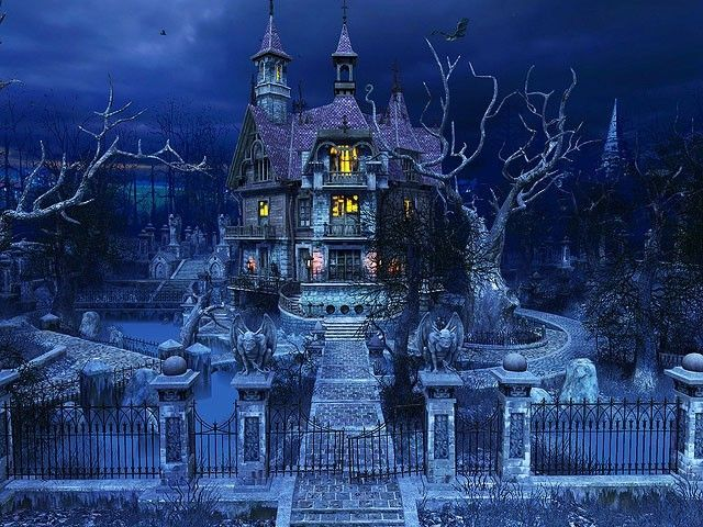 Scary haunted mansions haunted house 3d screensaver for Screensaver inter gratis