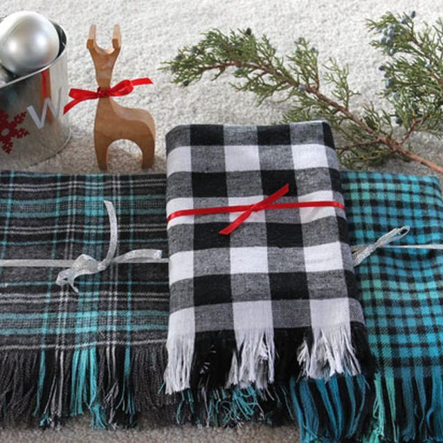 dca82a2dc2b Make a Handmade Plaid Flannel and Fringe Scarf | eHow Crafts | eHow ...