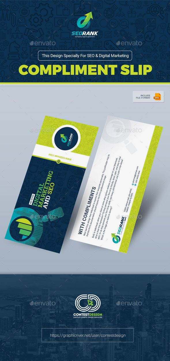 Slip   Card Template for SEO (Search Engine Optimization - compliment slip template