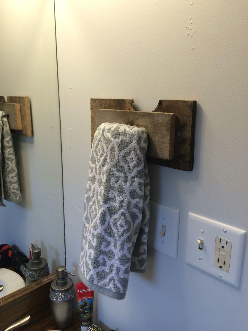 Pallet wood hand towel holder  My uploads in 2019