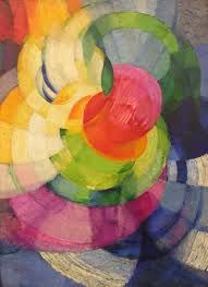 Hilma af Klint (1862-1944), a Swedish artist and mystic whose paintings were among the first abstract art. Here see the influence of Orphic Art (the Delaunays) or is it accidental? Additionally in the late 19th century in Eastern Europe mysticism and early modernist religious philosophy as expressed by theosophist Mme. Blavatsky had a profound impact on pioneer geometric artists like Wassily Kandinsky, and Hilma af Klint.