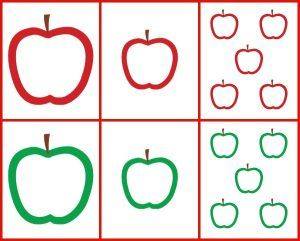 Apple Outlines | Apple outline, Apple template, Preschool ...