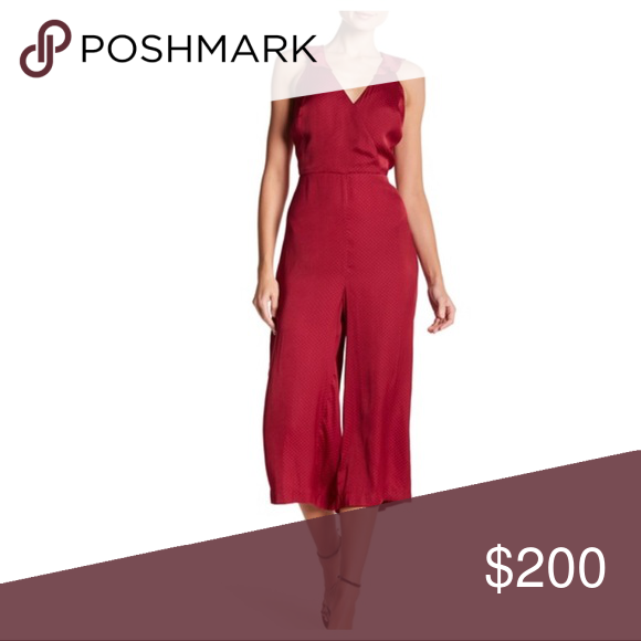 PARKER SPOTTED WRAP FRONT CULOTTE JUMPSUIT PARKER SPOTTED WRAP FRONT CULOTTE JUMPSUIT  NEW WITHOUT TAGS  SIZE- Tagged size S  DETAILS: - Surplice neckline with ruffle trim - Open back with self-tie - Sleeveless; ruffle trim - Wide fit through legs - Back zip  MATERIAL- Polyester COLOR- Pink  #festival #summer #party #vacation #evening #beach #coverup Parker Pants Jumpsuits & Rompers