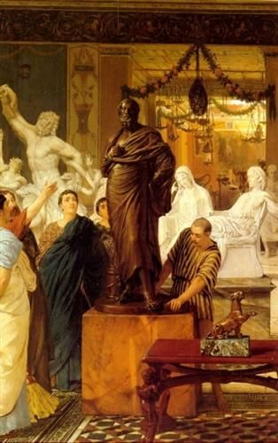A Sculpture Gallery in Rome at the Time of Agrippa - Sir Lawrence Alma-Tadema