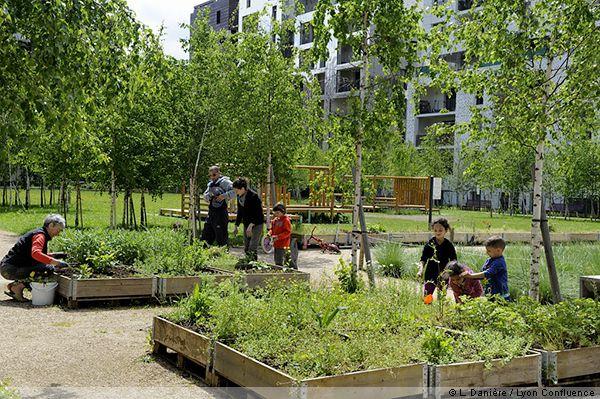Jardin partag en coeur d 39 lot lyon confluence france for Jardins et terrasses lyon