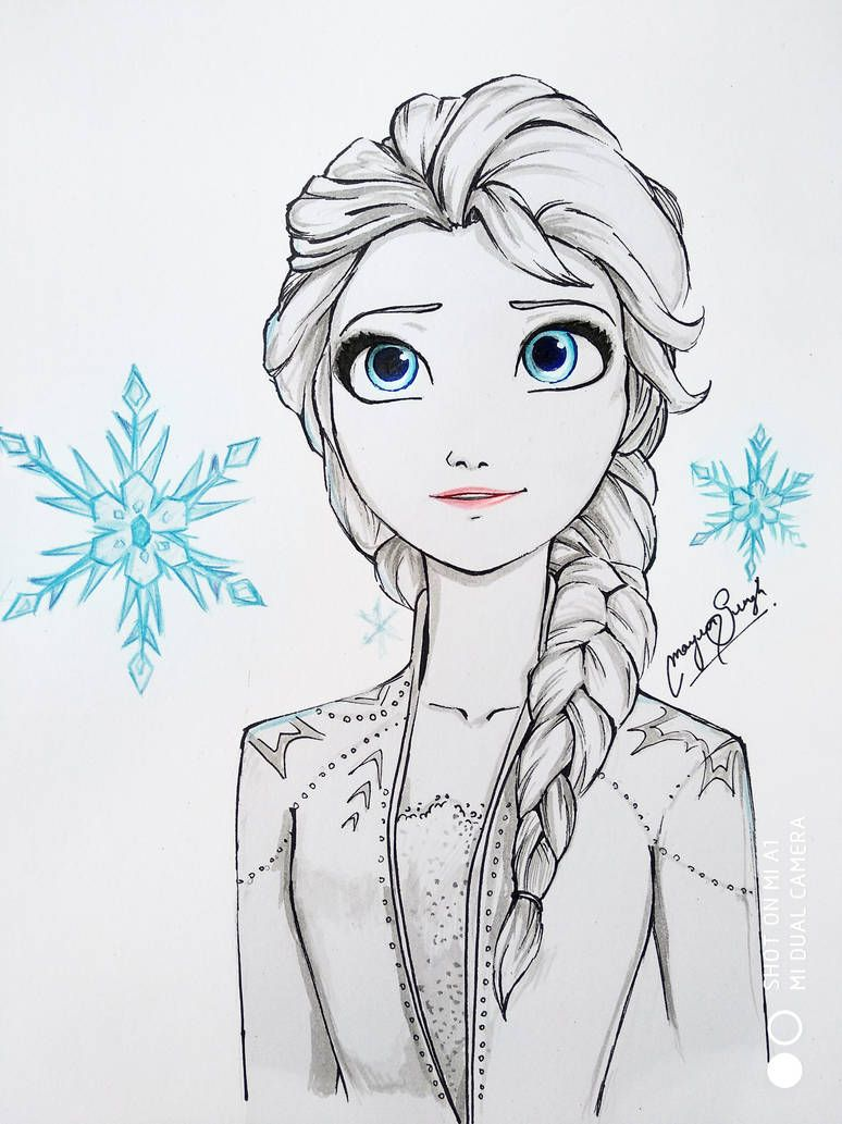 How To Draw Elsa And Anna From Frozen Fever Printable Drawing Sheet By Drawingtutorials101 Com Disney Drawing Tutorial How To Draw Elsa Drawings