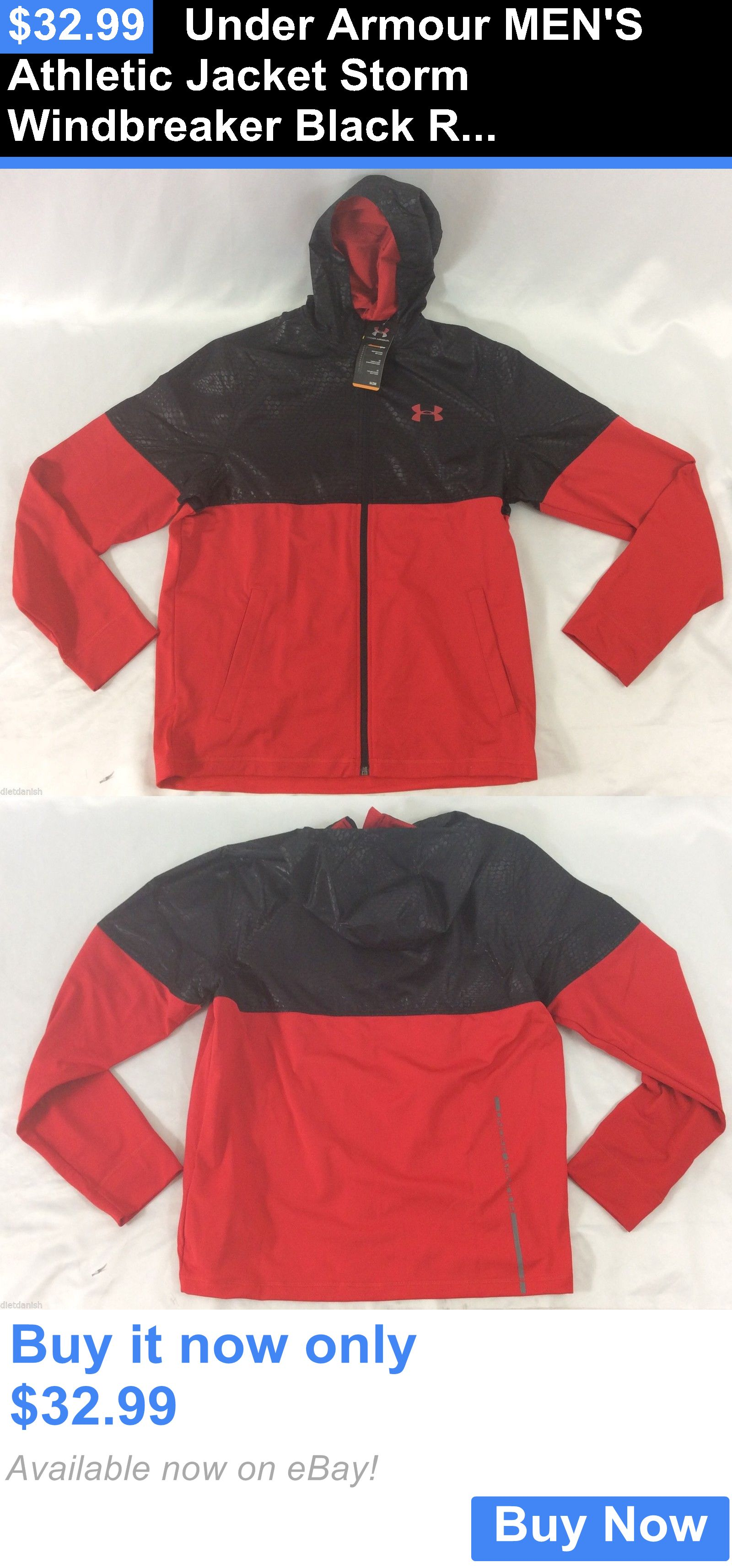 under armour jacket men red
