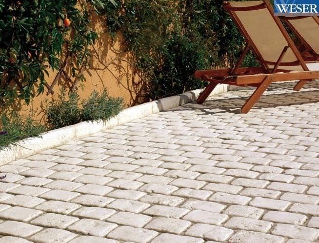 baldosa de exterior de jardn para pavimento de piedra saumur