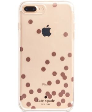 new style cef17 968aa kate spade new york Rose-Gold-Tone Confetti iPhone 8 Plus Case ...