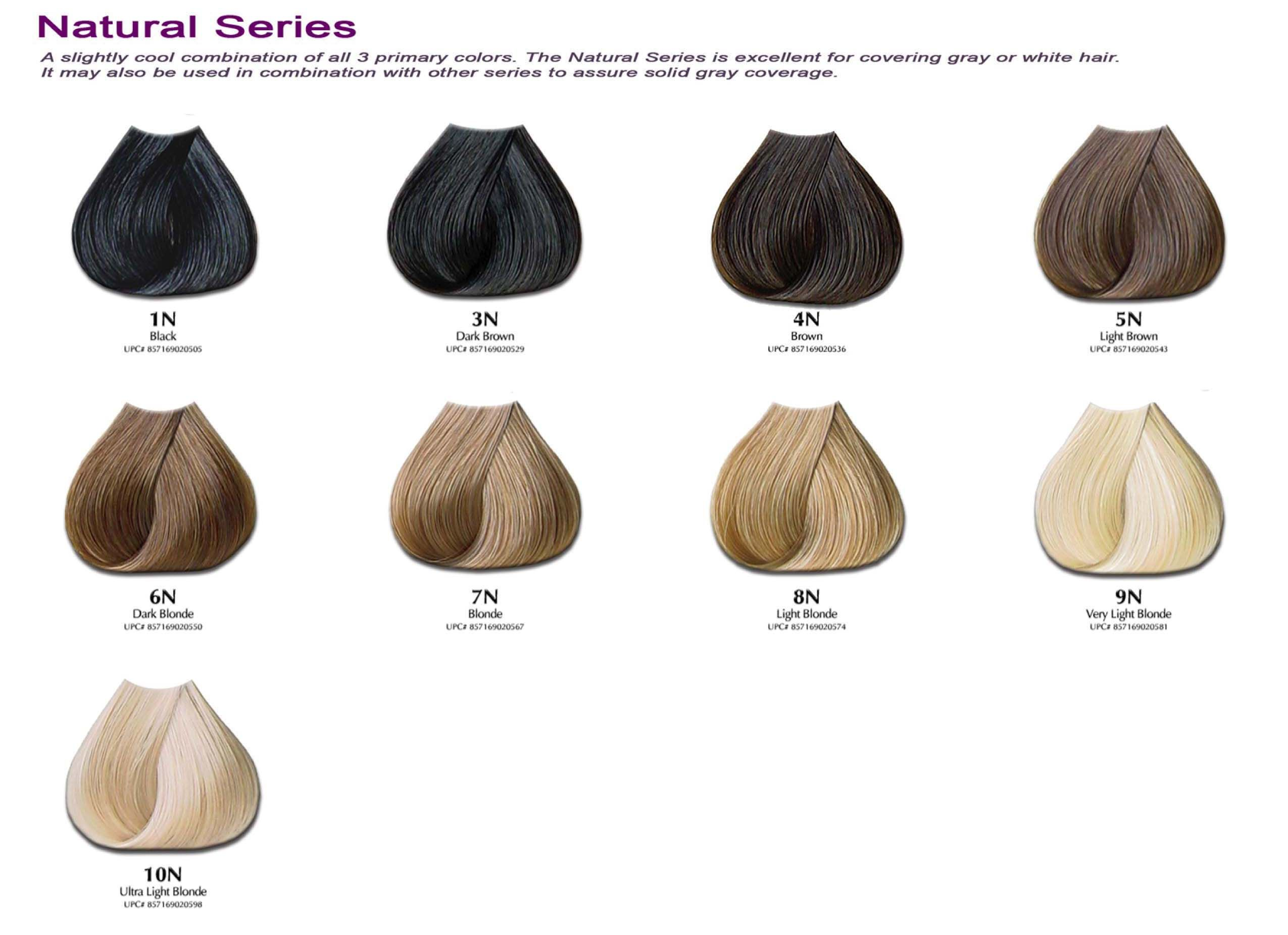 hair color chart colour
