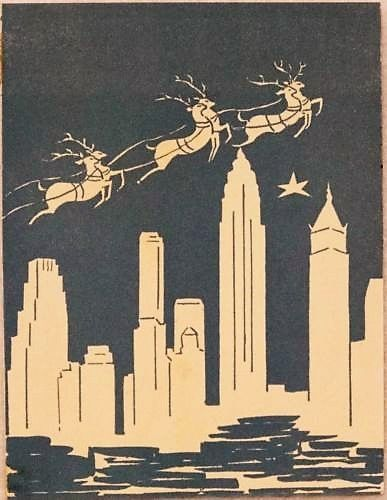 Vintage christmas in new york greeting card more vintage christmas vintage christmas in new york greeting card m4hsunfo