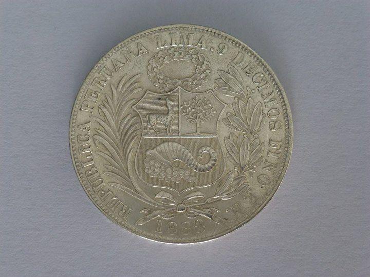 Moneda De Plata De Un Sol De 9 Decimos De 1882 Perú Coins Personalized Items Money