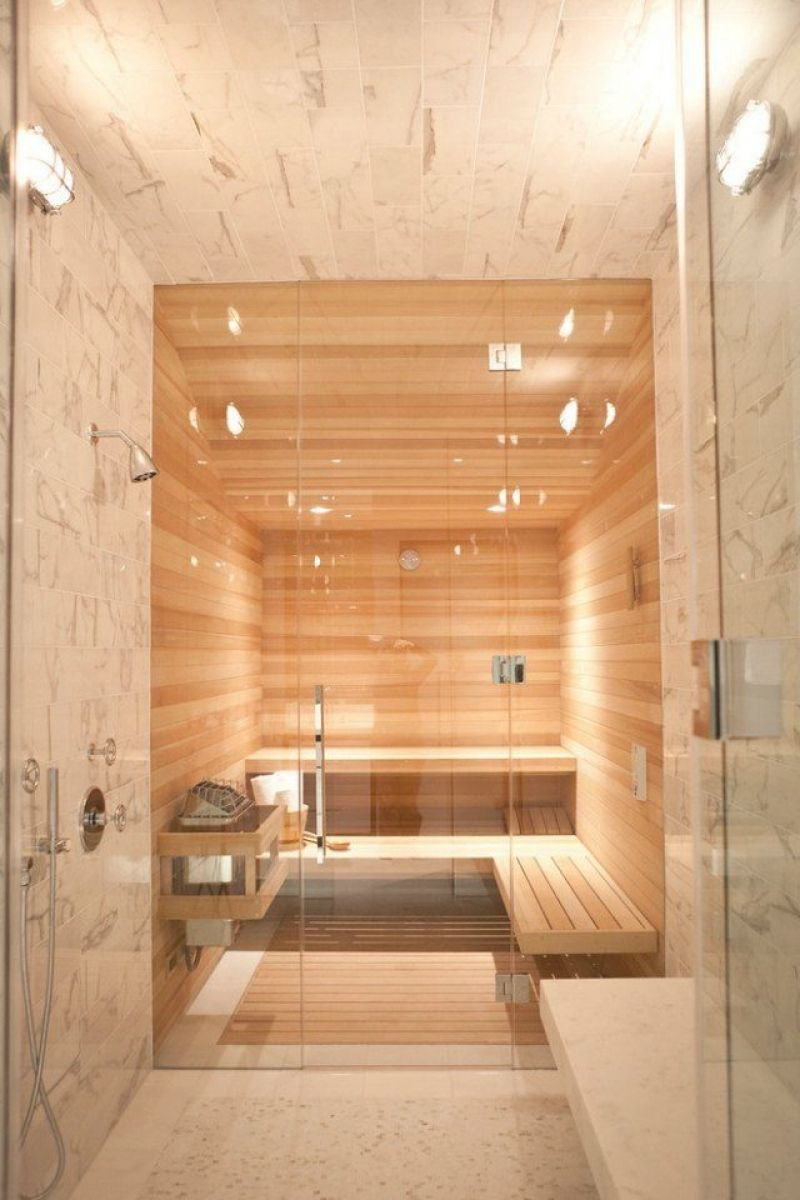 Luxus Badezimmer Wei Mit Sauna | Migrainefood, Moderne Deko