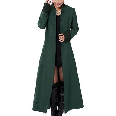 Long trench coat is a superb looking winter coat available at ...