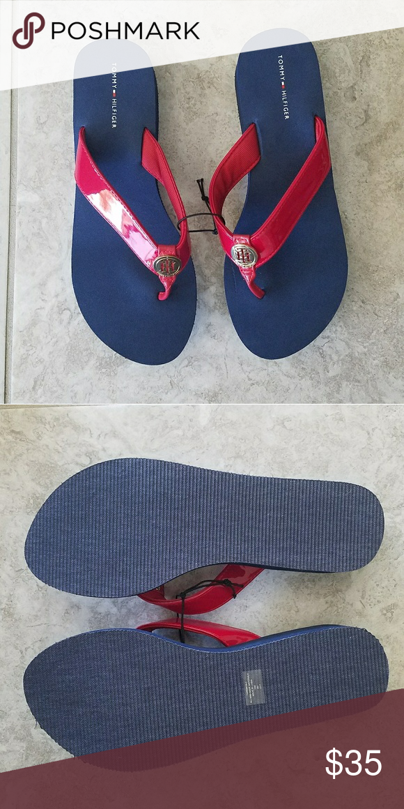Herren Tommy Hilfiger Zehentrenner Technical Flag Beach Blau Rot Weiss 08719257253559 Material Weiteres Material Material Weit Fashion Shoes Shoes Fashion