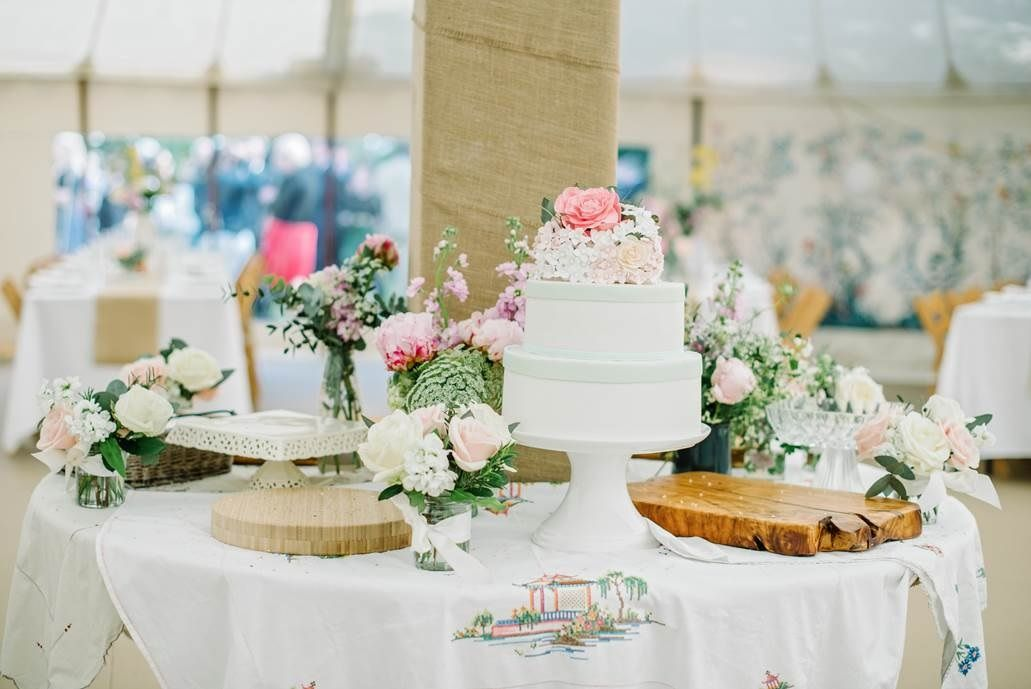 Within our Traditional Circular Tent - how pretty is this! & Pretty cake table inside our circular traditonal tent. | LPM ...