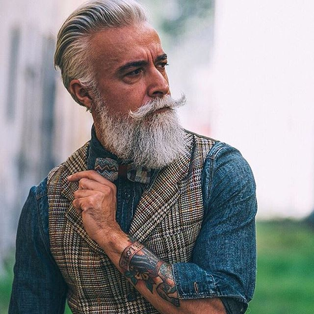 Image result for old man with tattoos and beard | hairstyles | Pinterest