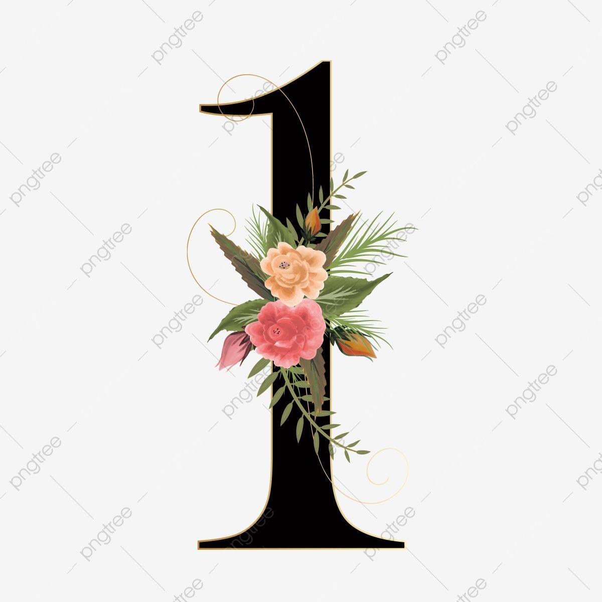 Numero Floral 1 Con Flores Y Hojas De Acuarela Numero 1 Decoracion De Elementos Decoracion De Numeros Png Y Vector Para Descargar Gratis Pngtree Flower Aesthetic Floral Wreath Watercolor Watercolor Flowers