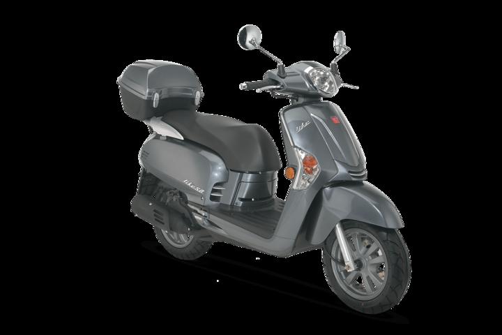 Motorroller 50ccm - Kymco Like 50 2T in silbergrau | Ansicht 2 ...