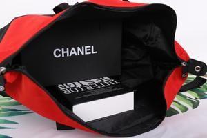 35bf5793e24c4e Chanel Red Black CC Logo Travel Gym Duffle Weekend Bag Large Vip ...