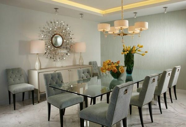 modern glass dining room table | Home | Pinterest | Glass dining ...