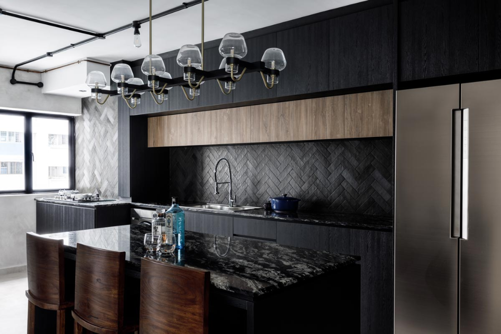 The New Industrial Style 7 Homes In Singapore That Underwent An Industrial Revolution In 2020 Industrial Style Interior Design Singapore Interior Design Kitchen