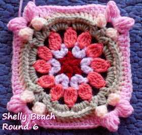 Zooty Owl's Crafty Blog: Seaside Winter Blanket CAL: Afghan Square #7 - Shelly Beach - Free Crochet Pattern