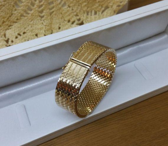Vergoldetes Armband 60-70erJahre elegant SA290 von Schmuckbaron