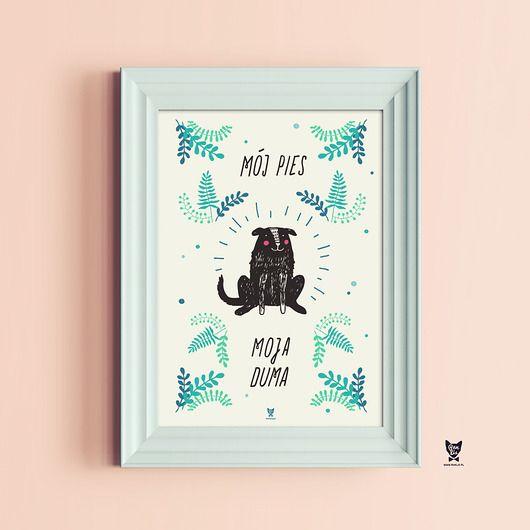 dla zwierząt-Plakat dla psiarzy - Mój pies, moja duma A2