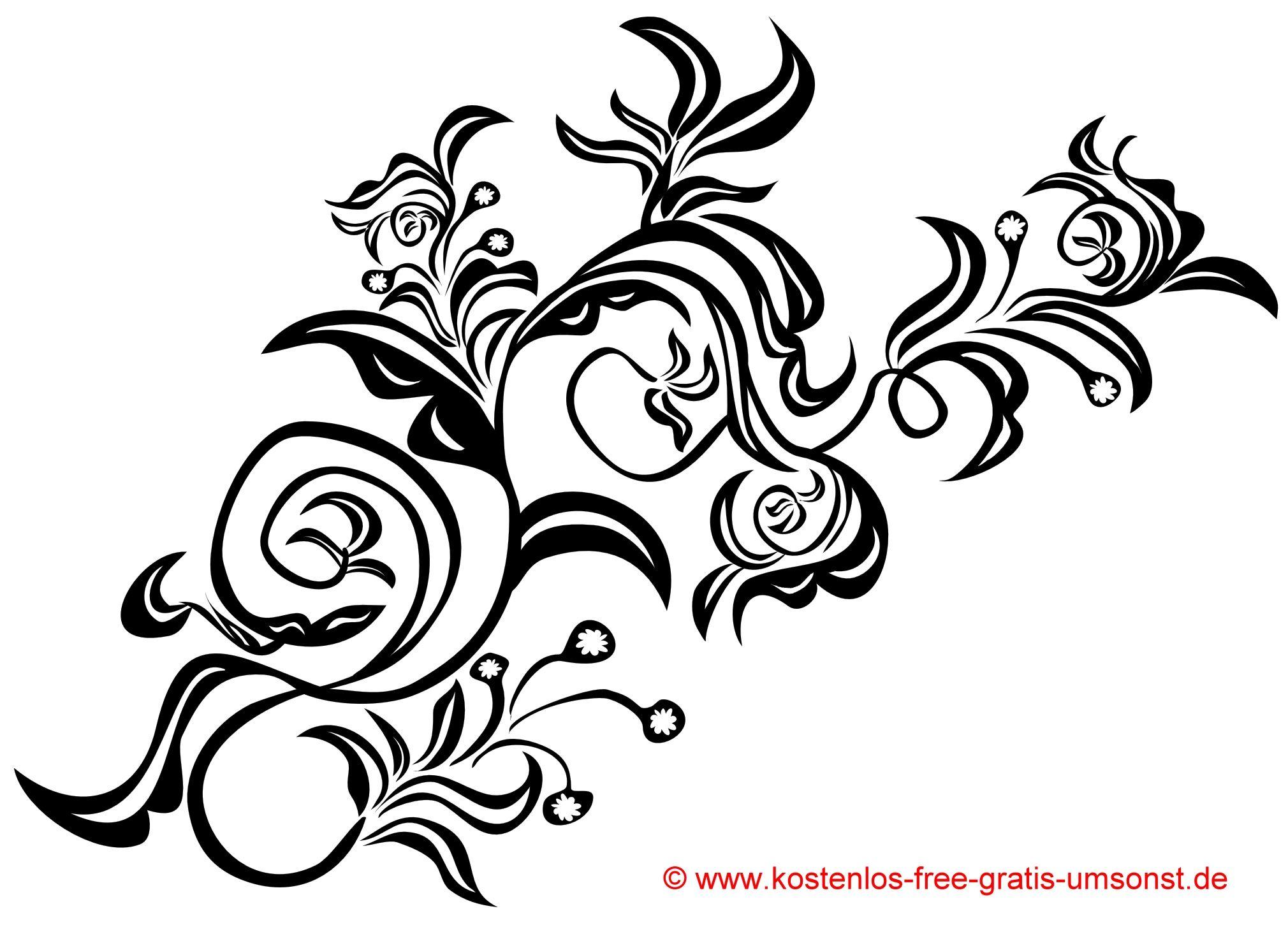 blumen tattoo vorlage flowers tattoo motive tribal. Black Bedroom Furniture Sets. Home Design Ideas