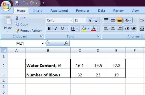 How to Make Liquid Limit Graph in Excel Spreadsheet | laboratory
