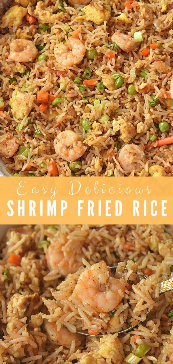 Authentic Chinese Shrimp Fried Rice #chinesefood