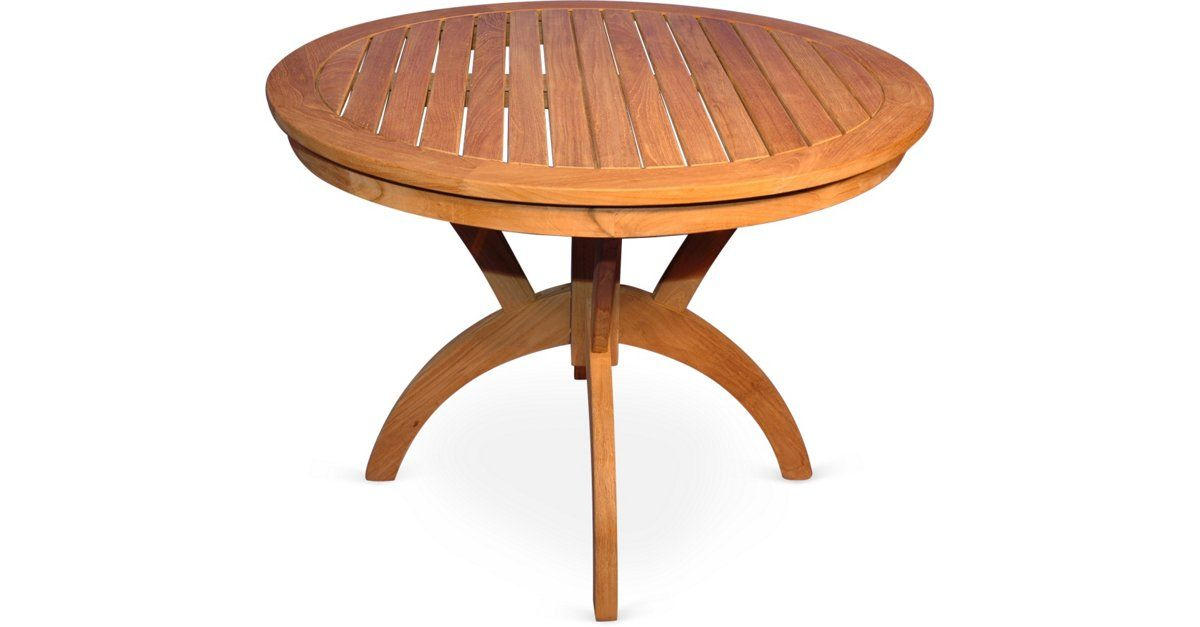 "A classic slatted design in naturally weather- and pest-resistant teak makes this 36-inch round pedestal table an instant outdoor favorite.Teak is as strong as it is beautiful, as well as... Teak 36""Dia Table Regal Teak $649.00 $1,065.00 39% Off"
