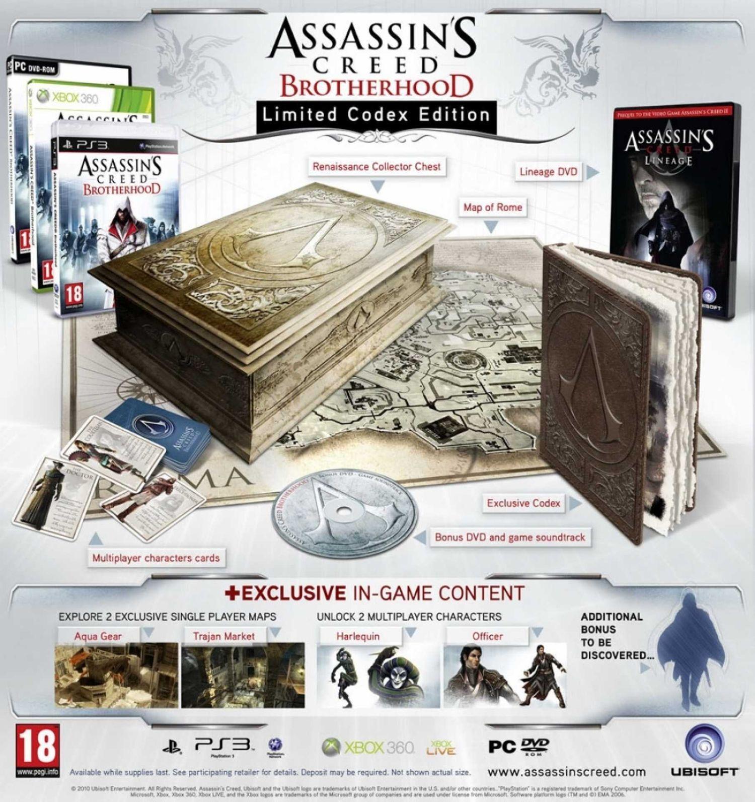 Assassin S Creed Brotherhood Limited Codex Edition Assassin S