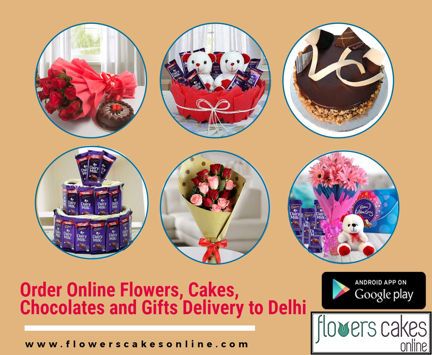 Online flowers and cake delivery in Delhi is just one