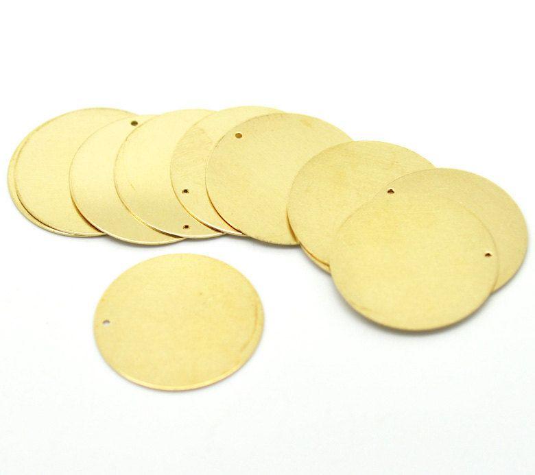 10 Brass Sheet Metal Stamping Blanks Round Circle Disc Shape Metal Stamping Blanks Metal Stamping Copper Diy