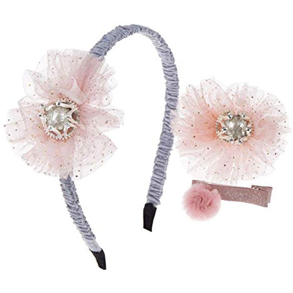 871a7519f21b 3pcs Baby Girls Hair Accessories Set - Glitter Headband Alligator Hair clips  #Clothing Shoes-