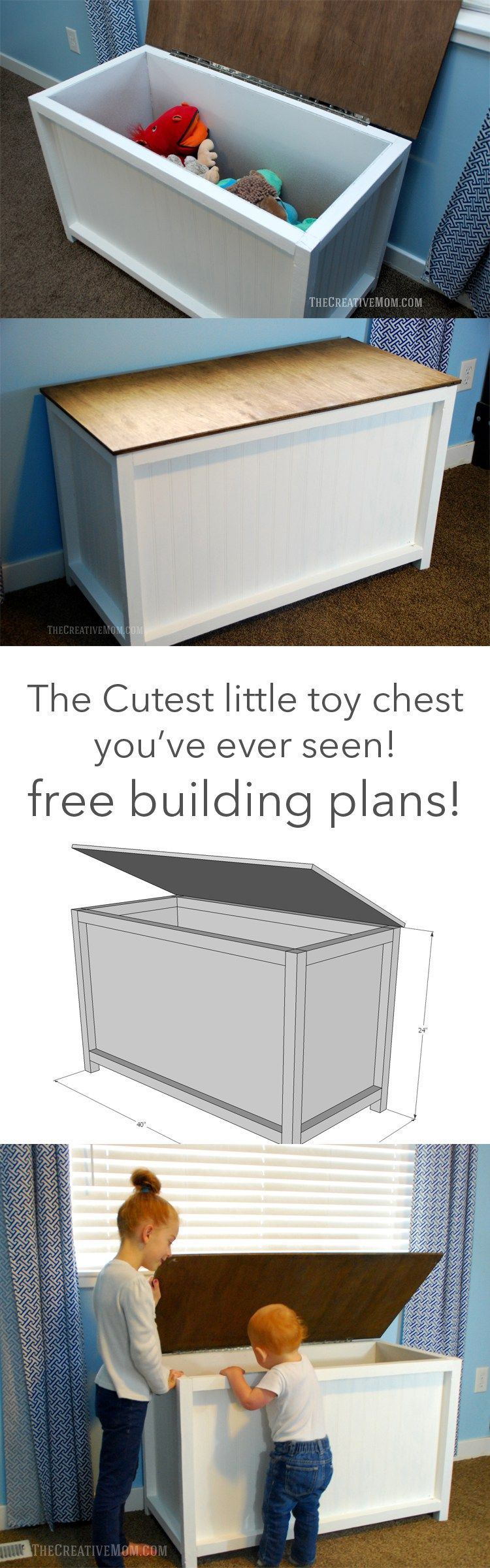 storage chest (or toy box) building plans | living the good