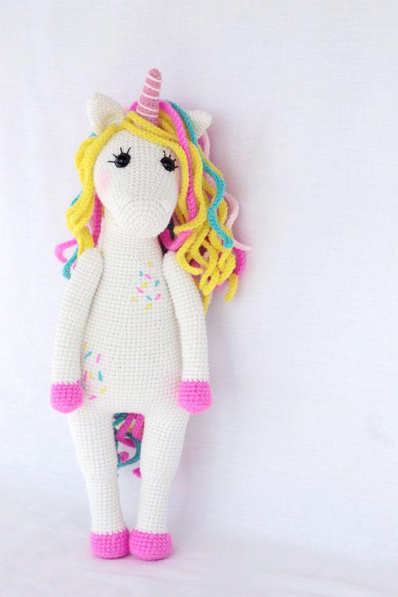 PATTERN Sweet unicorn PDF crochet toy pattern | Patrones Amigurumi ...
